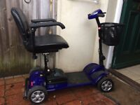 Hardly used mobility scooter in excellent condition with User Manual