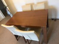 Dining table with 4 chairs- good condition