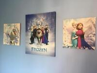 Set of 3 frozen canvases