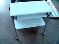 small gloss white computer desk