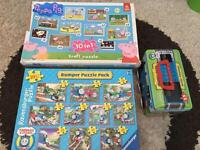 Thomas and peppa pig jigsaws