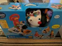 Vtech 3 in one zebra scooter brand new unopened