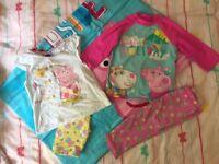 Peppa pig beach set - brand new towel, sunsafe suit etc age 2-3