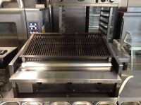 CATERING COMMERCIAL 3 BURNER ARCHWAY CHARCOAL GRILL FAST FOOD RESTAURANT BBQ KEBAB SHOP TAKE AWAY