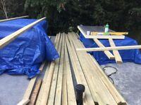 Timber Joist 4''x 2'' 6m long