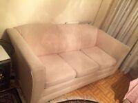 Argos White Wool Three Seater Sofa