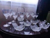 I.G. Durand glass set