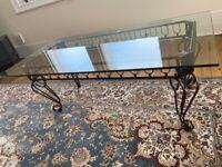 Vintage glasstop coffee table