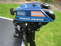 """Volvo Penta 39 Outboard Engine (3.9 hp) - excellent condition - short shaft 18"""""""