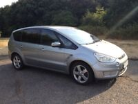 FORD S-MAX TITANIUM 6 SPEED DIESEL YEARS MOT SERVICE HISTORY RECENT CAMBELT CHANGE ALLOYS AIR CON CD