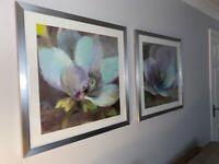 2 x Framed Albena Floral Prints