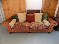 Beautiful Tetrad Eastwood Grand Leather & Fabric Sofa
