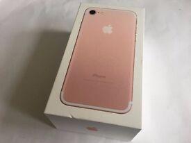 ** Brand New Apple iPhone 7 128GB Rose Gold Vodafone 11 Months Apple Warranty **