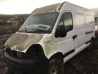 Renault master van parts available bumper bonnet wing radiator