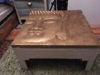 Handmade Buddha table made of