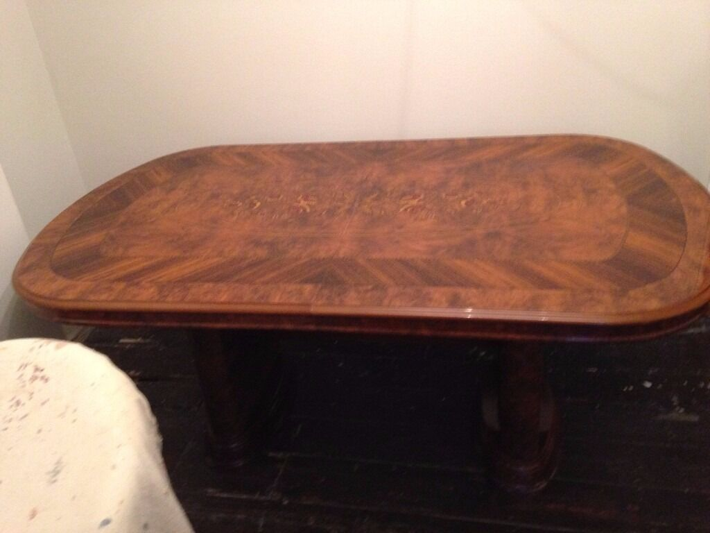 Inlaid Dining Table Beautifully Inlaid Dining Table With 8 Chairs 6 Standard 2