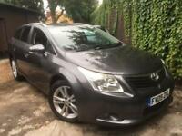 2009/09 Toyota Avensis T4 D-4D 2.0 6G 125 Bhp Estate Full Black Leather Aux