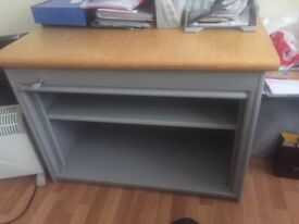 Office Cabinet and desk with lockable shutter