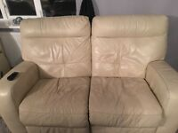 Corner sofa and 2 seater electric recliner