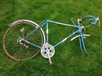 Vintage Retro Peugeot Push Bike Bicycle Men's Road Race Spares or Repair Blue
