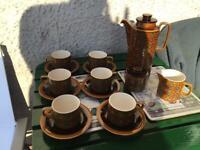 Vintage 1974 Hornsea Bronte Design Coffee set £25