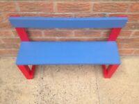 Child's outdoor wooden bench