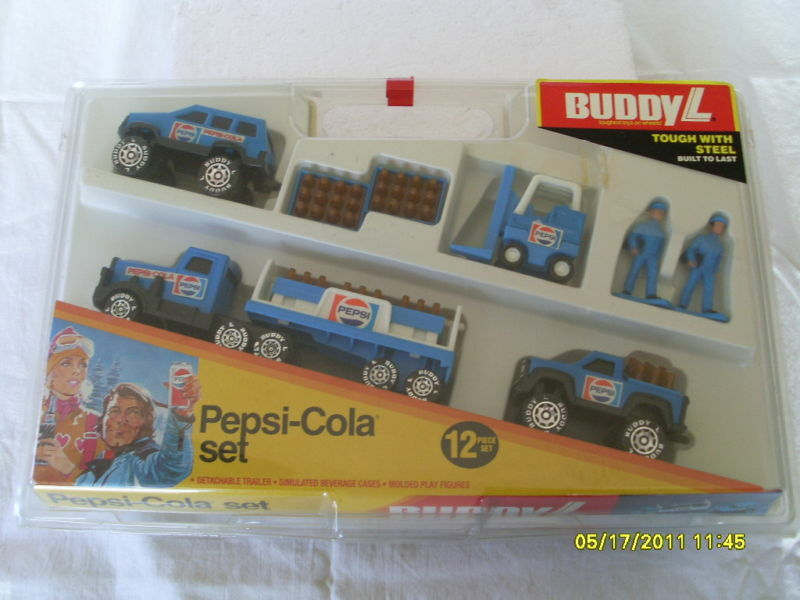 BUDDY L PEPSI COLA TRUCK AND TRAILER DELIVERY SET