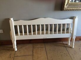 CREAM COLOURED SOLID PINE DOUBLE BED