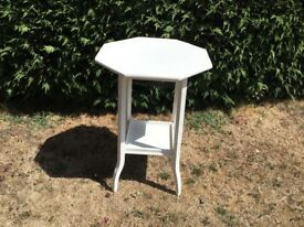 WHITE PAINTED SIDE/HALL/GARDEN TABLE