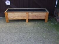 EXTRA LONG NEW WOODEN PLANTER