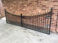 Heavy duty Wrought Iron gates and wall railings