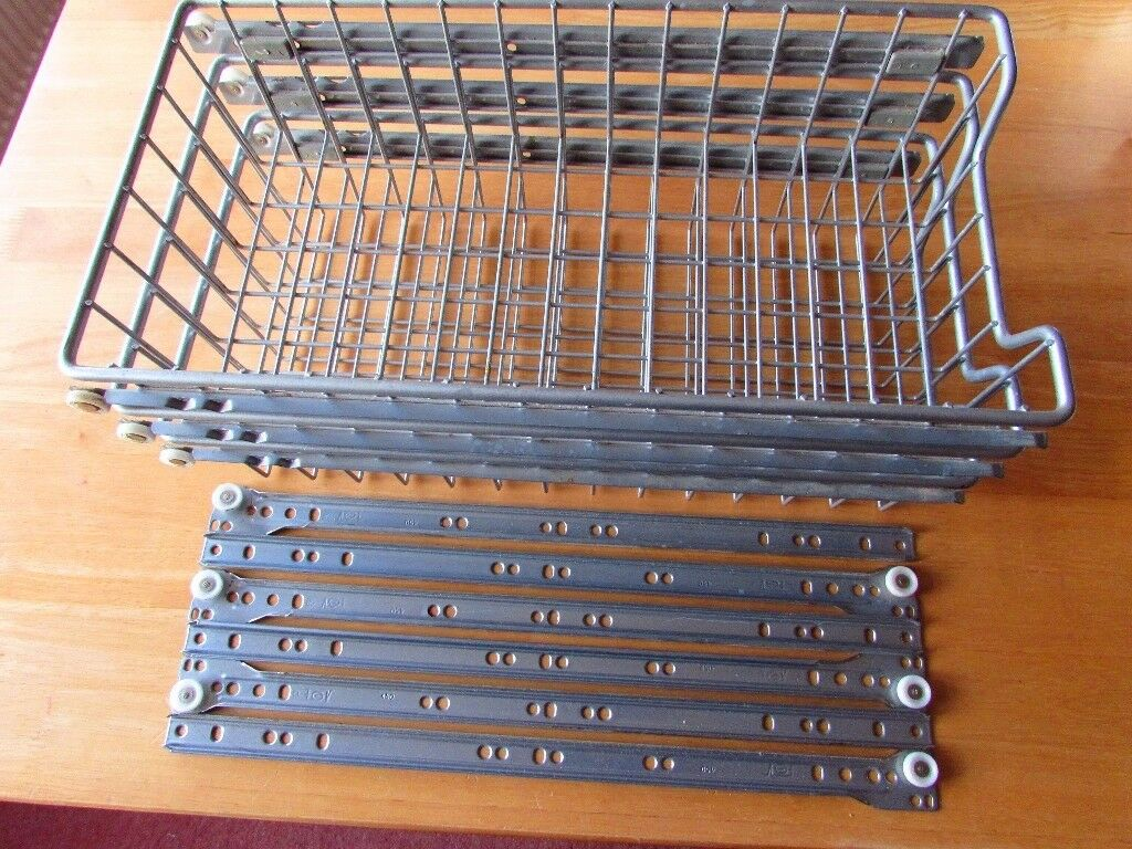 3 x Grey finish Vegetable Basket Drawers for fitted kitchen 245 mm wide approx.