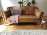 Barker & Stonehouse Leather Sofa Excellent Condition