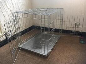 Folding dog / puppy crate