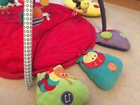 Mamas & Papas play mat/baby gym & tummy time roller
