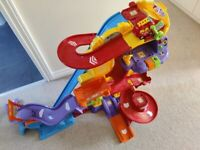 For sale: Vtech Toot-Toot Drivers Super Tracks, fire station and fire engine, roads.