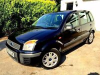 **1 PREV OWNER** 2007 FORD FUSION STYLE CLIMATE 1.4 PETROL 5 DOOR BLACK HATCH