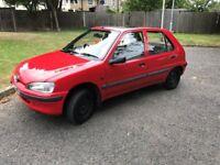 Peugeot 106 XL 1997, Red, 5 door, 1.1 petrol, 11 months MOT, 74k miles