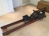 WaterRower Rowing Machine with S4 Performance & Heart Rate Monitors - Excellent Condition