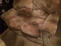 2 seater sofa with 2 chairs, good condition