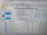 TOSHIBA Hard Drive 500GB MQ01ACF050 7mm SATA 2.5 Thin