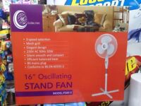 """Stand Fan 16"""" oscillating bran new very good and new arrived"""