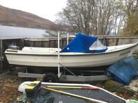 Fishing boat with new trailer for sale