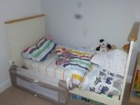 John Lewis Cot bed and matching changing unit.