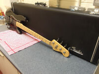 Fender American Hot Rod Precision bass guitar , 1999 , with Fender hard case.