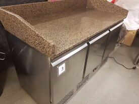 KING Marble work top with 3 under counter refrigeration units