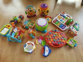 Big selection of baby toys.