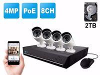 CCTV CAMERAS AVILABLE NIGHT VISION/POE/WIRELESS BRAND NEW IN BOX 4 MEGAPIXEL CAMERAS