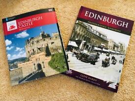 Two books about Edinburgh history castle souvenir memories