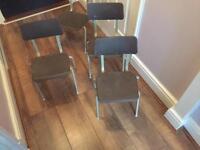 Small nursery school chairs retro vintage x4